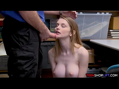 Big Boobs Thief Caught And Fucked In Her Tight Pussy