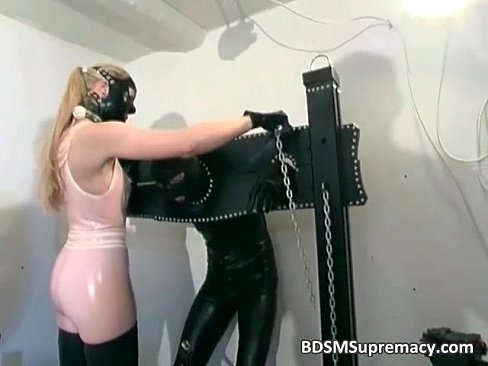 Latex Whire Have Fun With Dude In BDSM